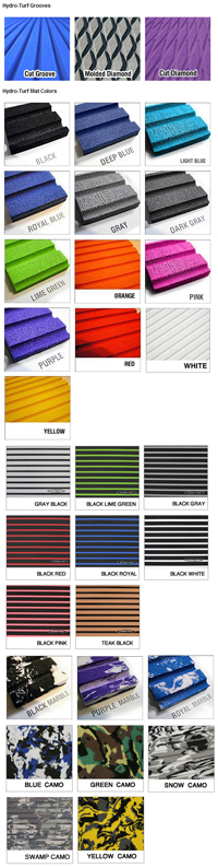 Hydro-Turf Mat Colors and Grooves