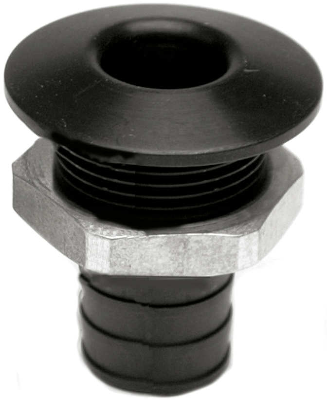 "3/4"" Aluminum Bilge Fitting Black  57-4015"