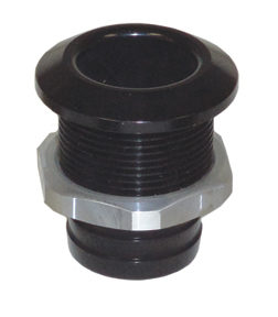 "1 1/8"" Aluminum Bilge Fitting Black  57-4020"