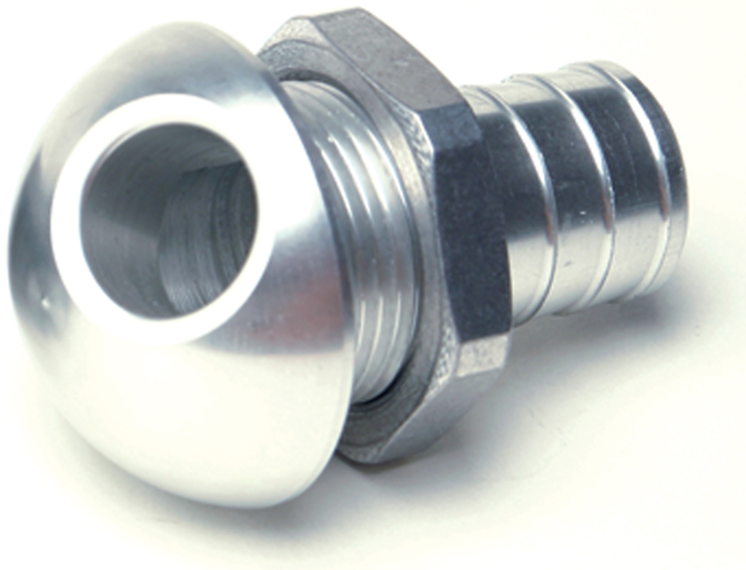 "3/4"" 45 degree Aluminum Bilge Fitting Silver  57-4021"