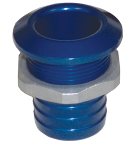 "1 1/8"" Aluminum Bilge Fitting Blue  57-4027"