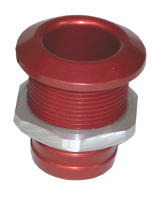 "1 1/8"" Aluminum Bilge Fitting Red  57-4028"
