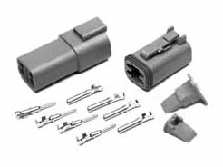 MSD Grey Deutsch 2 Pin Connector Set
