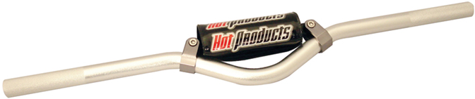 Hot Products FreeStyle Handlebar w/Pad for Standups 0 deg Silver