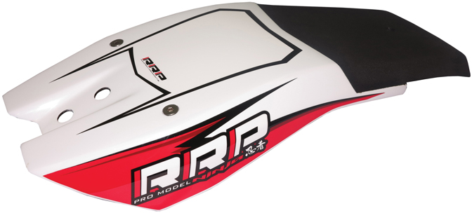 RRP Ninja Carbon Chin Pad - White/Red